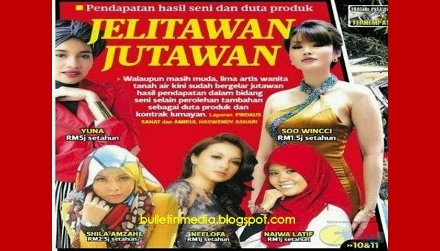 Top 5 Artis Wanita Terkaya Malaysia Yang Mengaut Keuntungan Melebihi 1 Juta