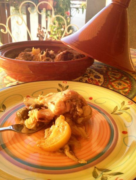 taijine di pollo con limoni in salamoia