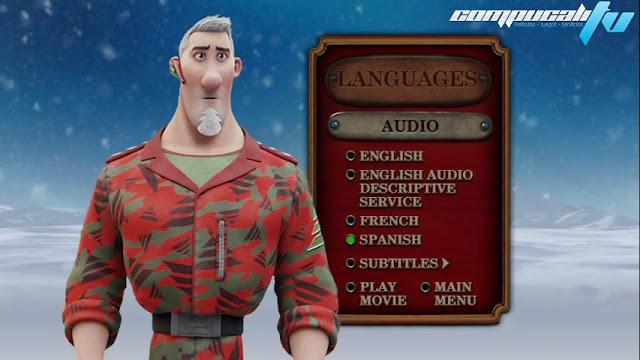 Arthur Christmas DVDR NTSC Español Latino Menú Full