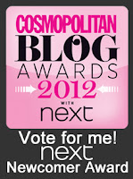 SHORTLISTED FOR COSMO NEWCOMER AWARD 2012