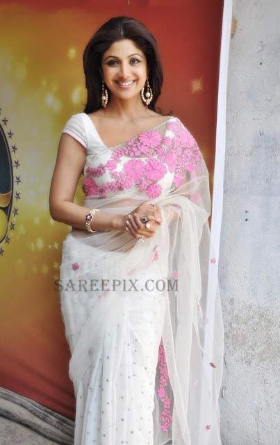 Shilpa-shetty-Nandita-Mehtani-netted-saree
