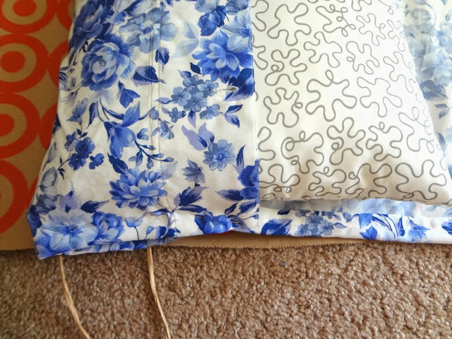 Making a pillow cover with a shirt