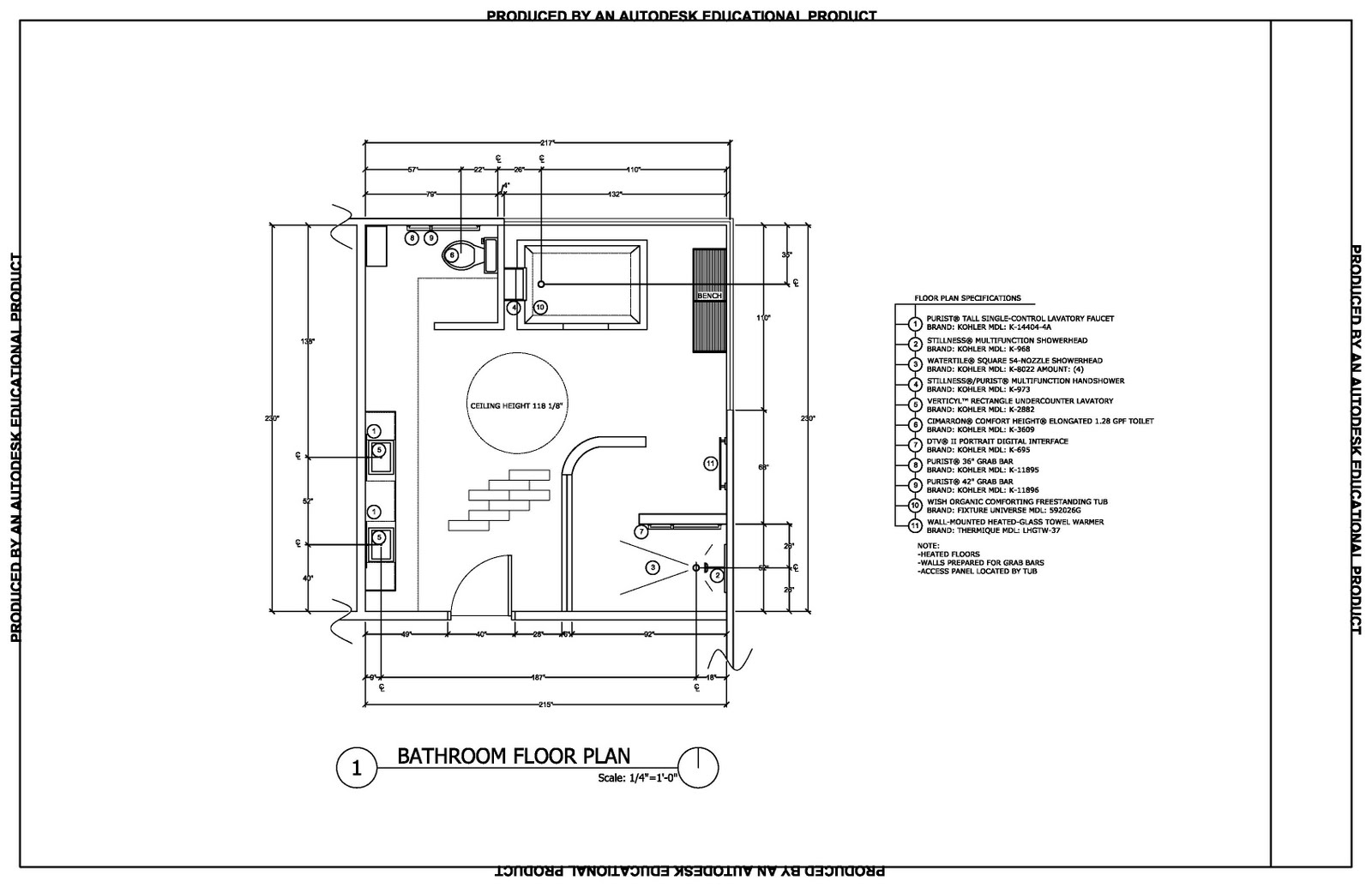 Best 50 bathroom layouts cad design ideas of bathroom for Cad floor plans