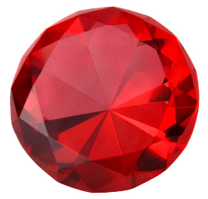 Batu kelahiran Bulan Juli adalah ruby