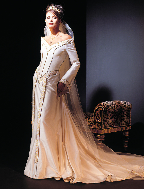 Few Brides Would Want To Wear Another Color Than White But It Is Possible Combine The Medieval And Modern Like With This Dress From Temptations By