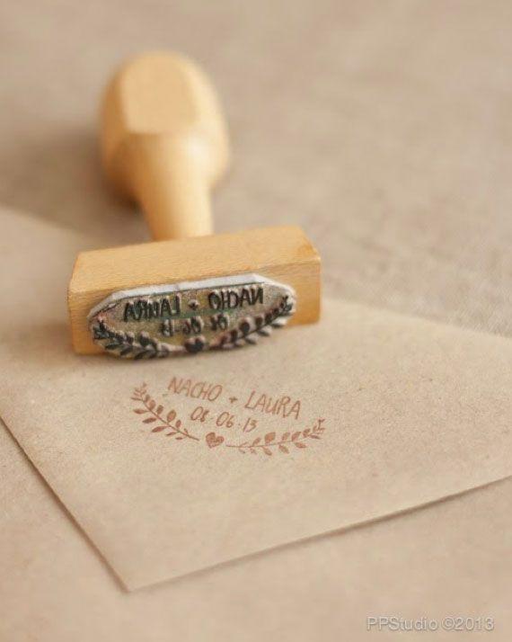 Sellos personalizados para invitaciones de boda