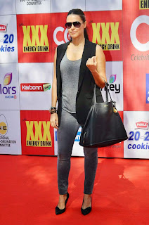Bollywood Actress Neha Dhupia  Picture Gallery at CCL 5   5