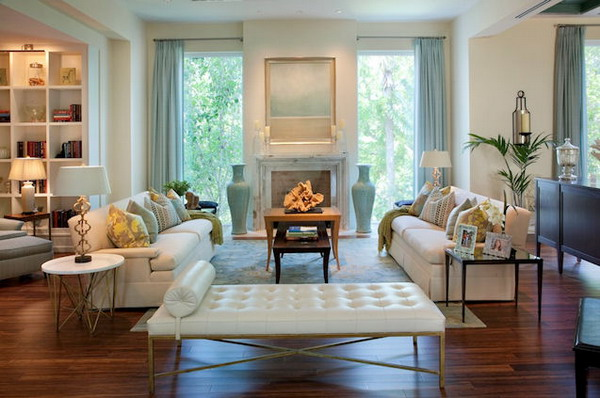 Comfortable living room style with modern furniture interior decorating idea - The modern or contemporary living rooms style ...
