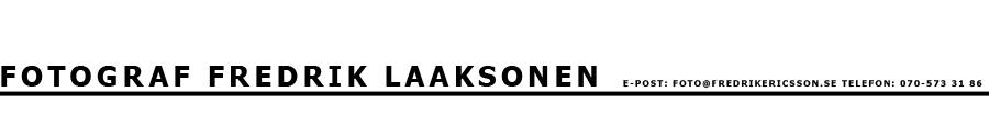 Fotograf Fredrik Laaksonen