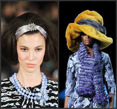 headbands and statement hats appear in fall 2012 fashion trends