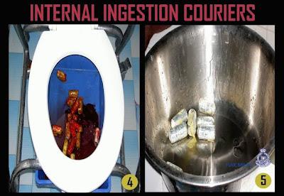 Gambar Taktik-Taktik Penyeludupan Dadah internal ingestion couriers