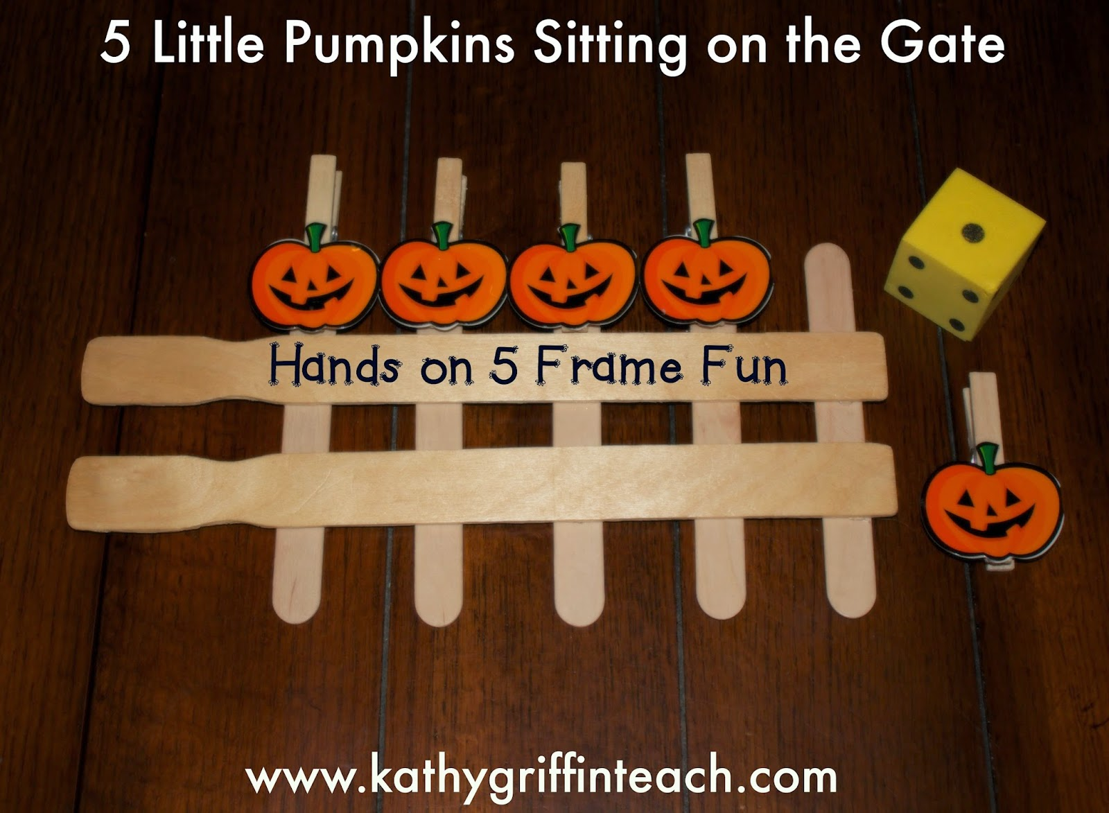 image relating to Five Little Pumpkins Sitting on a Gate Printable identified as Kathy Griffins Education Programs: 5 Very little Pumpkins