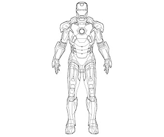 #4 Iron Man Coloring Page