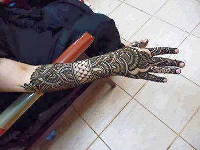 Mehndi Bridal Back Side : Patternz u bridal mehendi designs back side of hand
