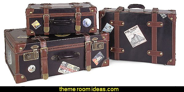 Set of 3 Labeled Suitcases