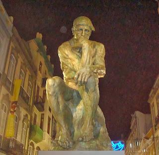 El pensador, de Rodin.