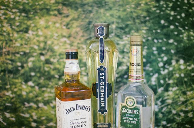 Jack Daniel's, honey, whisky, St. Germain, creme de menthe, cocktail