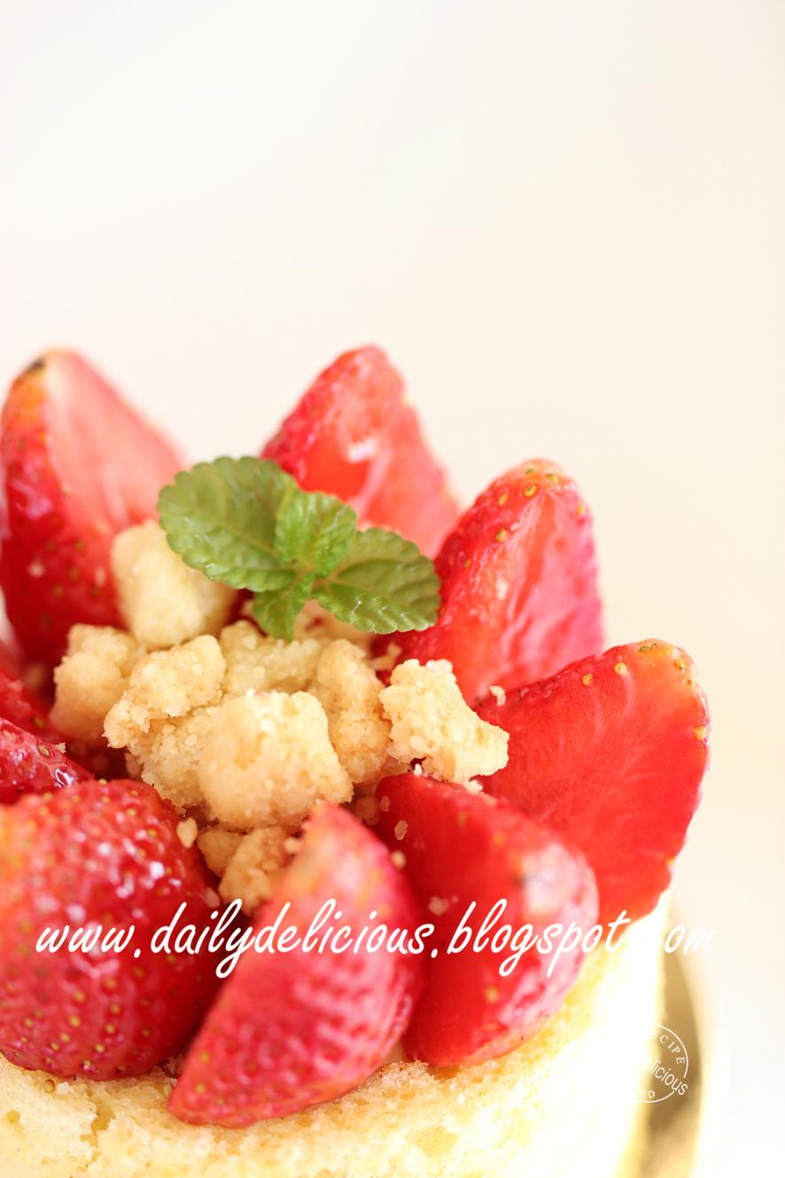 Dailydelicious Symphonie Strawberry And Cheese Mousse - Symphonie cuisine