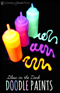Glow in the Dark Doodle Paints- easy to make and SO FUN!