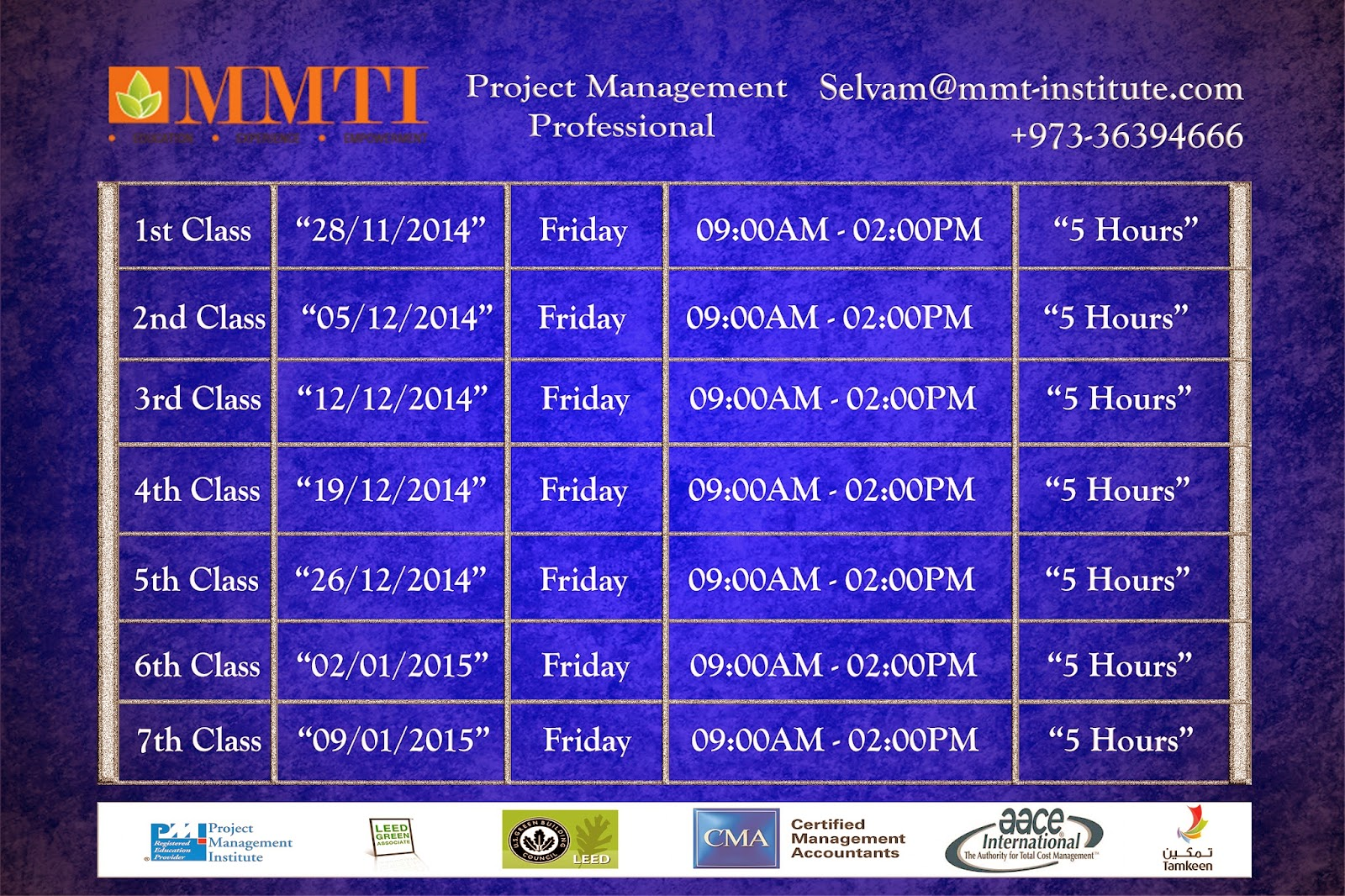 Mmti course starting date 28112014 1betcityfo Images