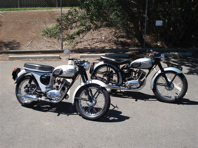 Trojan Classic Motorcycles  Triumph Tiger Cub T20 1955 and 1958