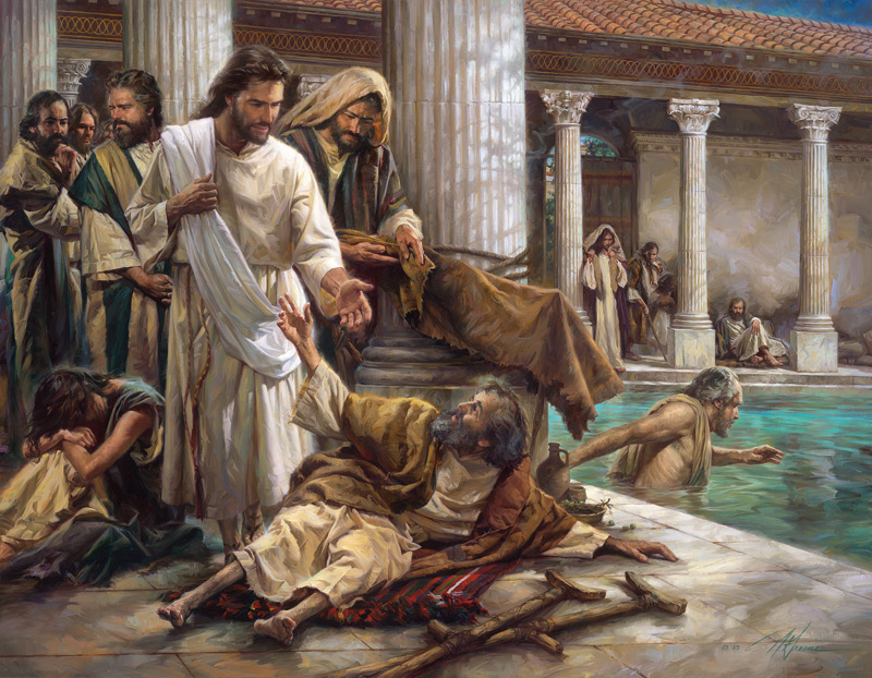 Image result for jesus healing the lame man
