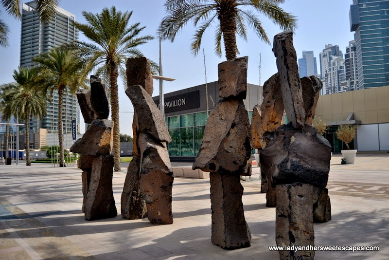 The Gathering sculpture at The Pavilion Downtown Dubai