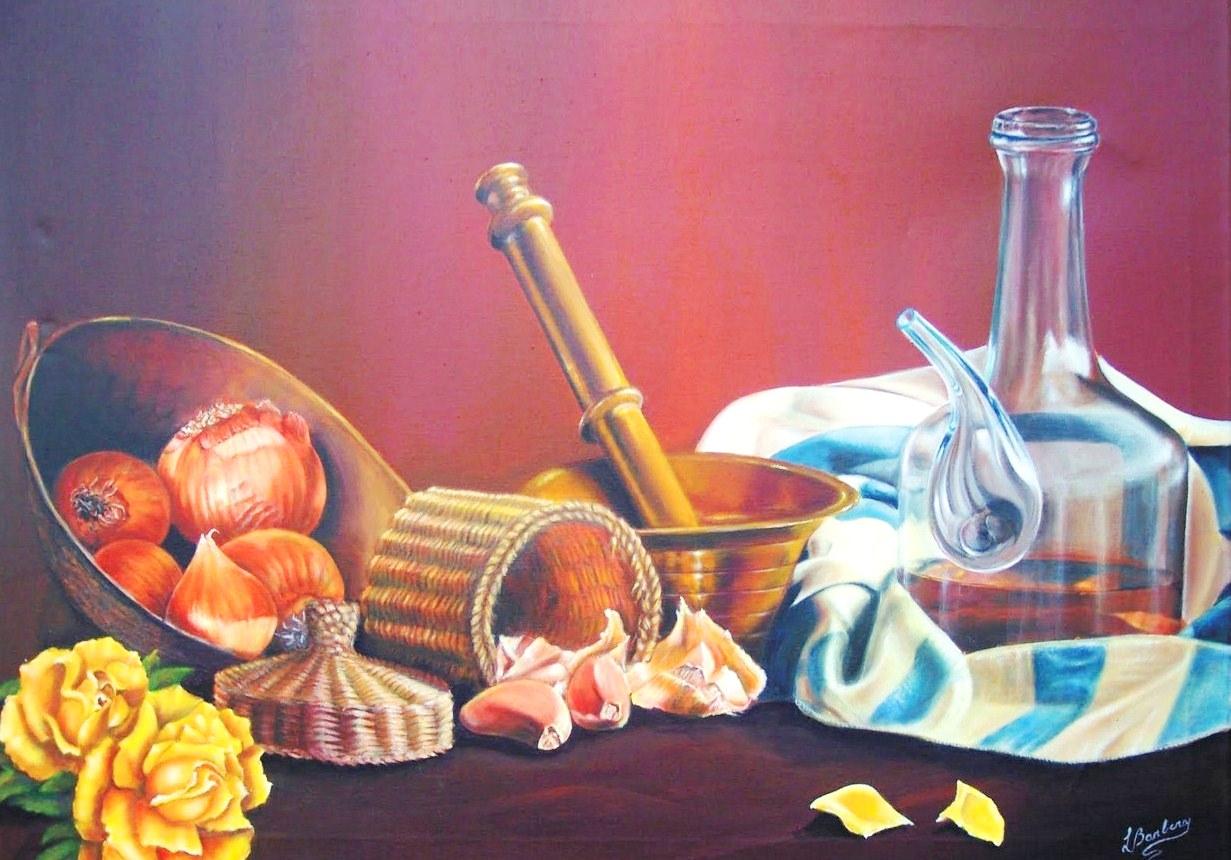 Im genes arte pinturas pintura de bodeg n en acrilico - Pintura esmalte acrilico ...