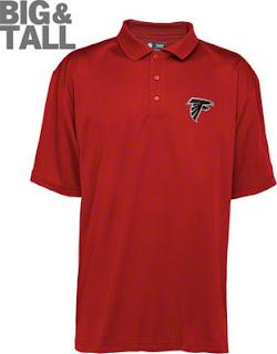 Big and Tall Atlanta Falcons Red Polo Shirt