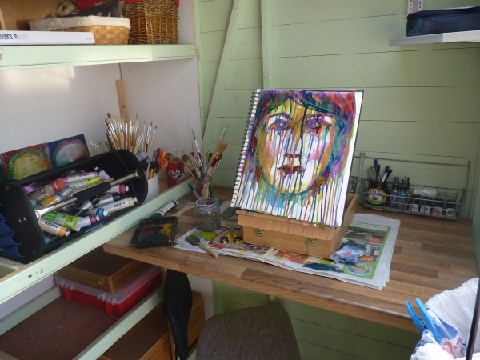 Whoopidooings: Carmen Wing - Where I play. My 6'x5' art shed :)