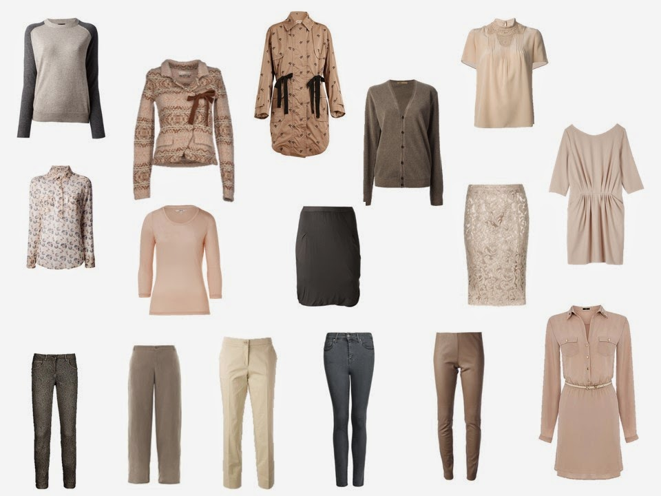 a capsule travel wardrobe in beige and taupe inspired by a Paris hotel room