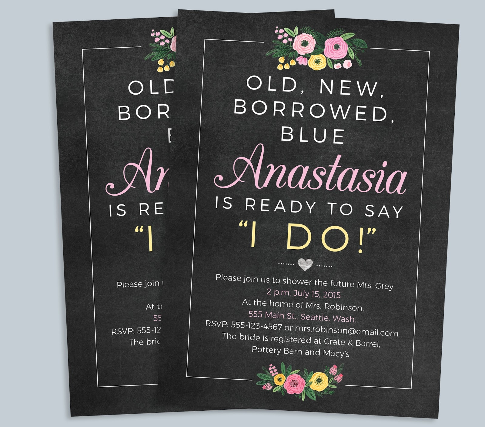 Weddings by Susan 5piece Printable She Said Yes Bridal Shower