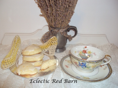 Eclectic Red Barn: Orange Ricotta Cookies with Thedore Haviland Tea Cup