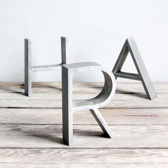 Dosxdos letras de metal for Letras decoracion metal