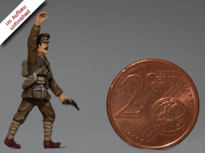 Erster Weltkrieg Diorama eines englischen Schützengrabens mit Tank und Soldaten, Diorama of a British Trench in WWI Bild 11