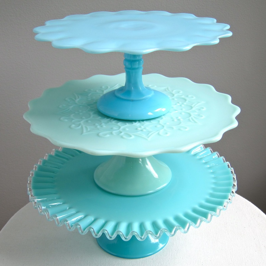 ... : Vintage Wedding Cake Stands - Victorian Glass, Milk Glass and More