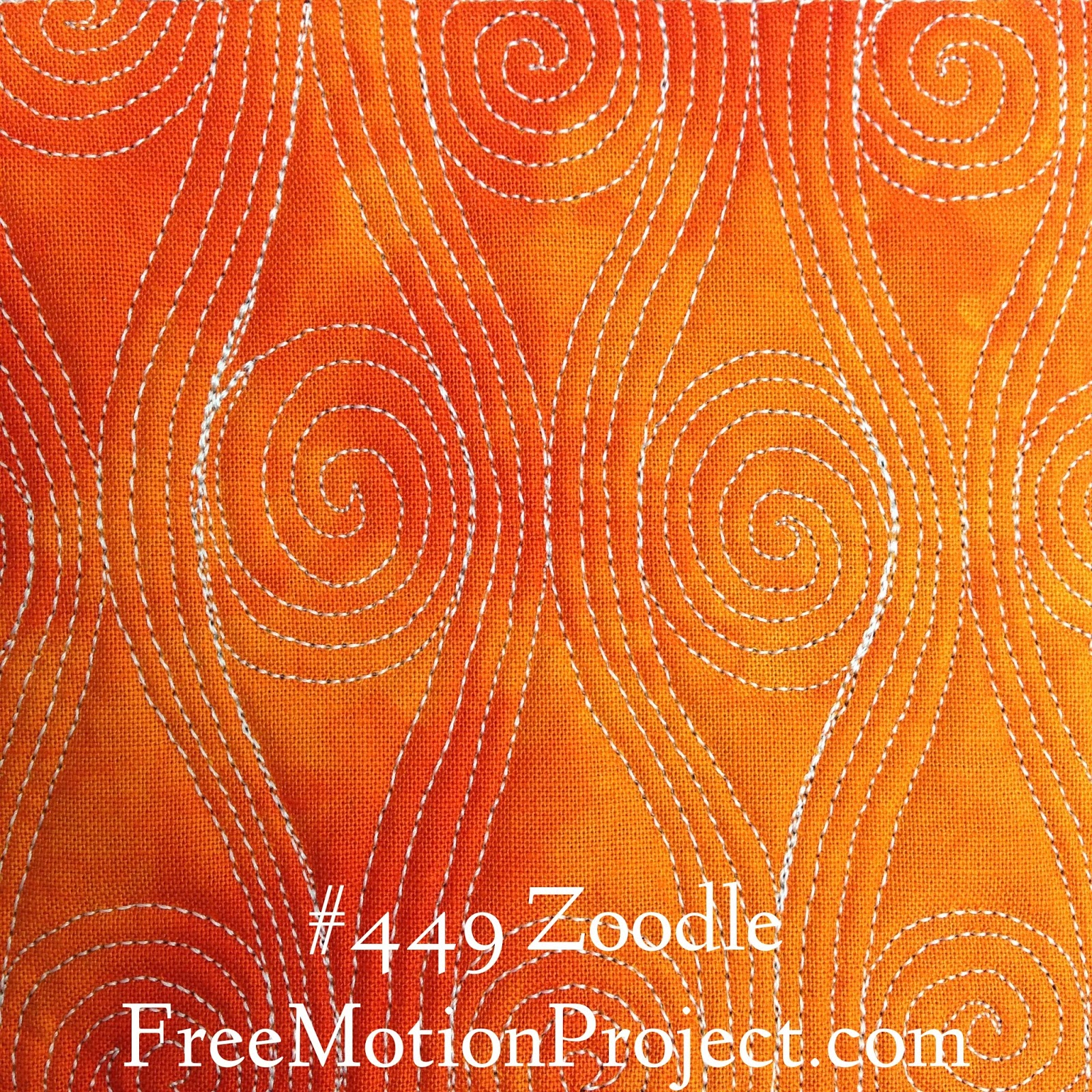 The Free Motion Quilting Project: Free Motion Quilt Zoodle #449