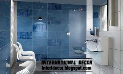 dark blue wall tiles for bathroom