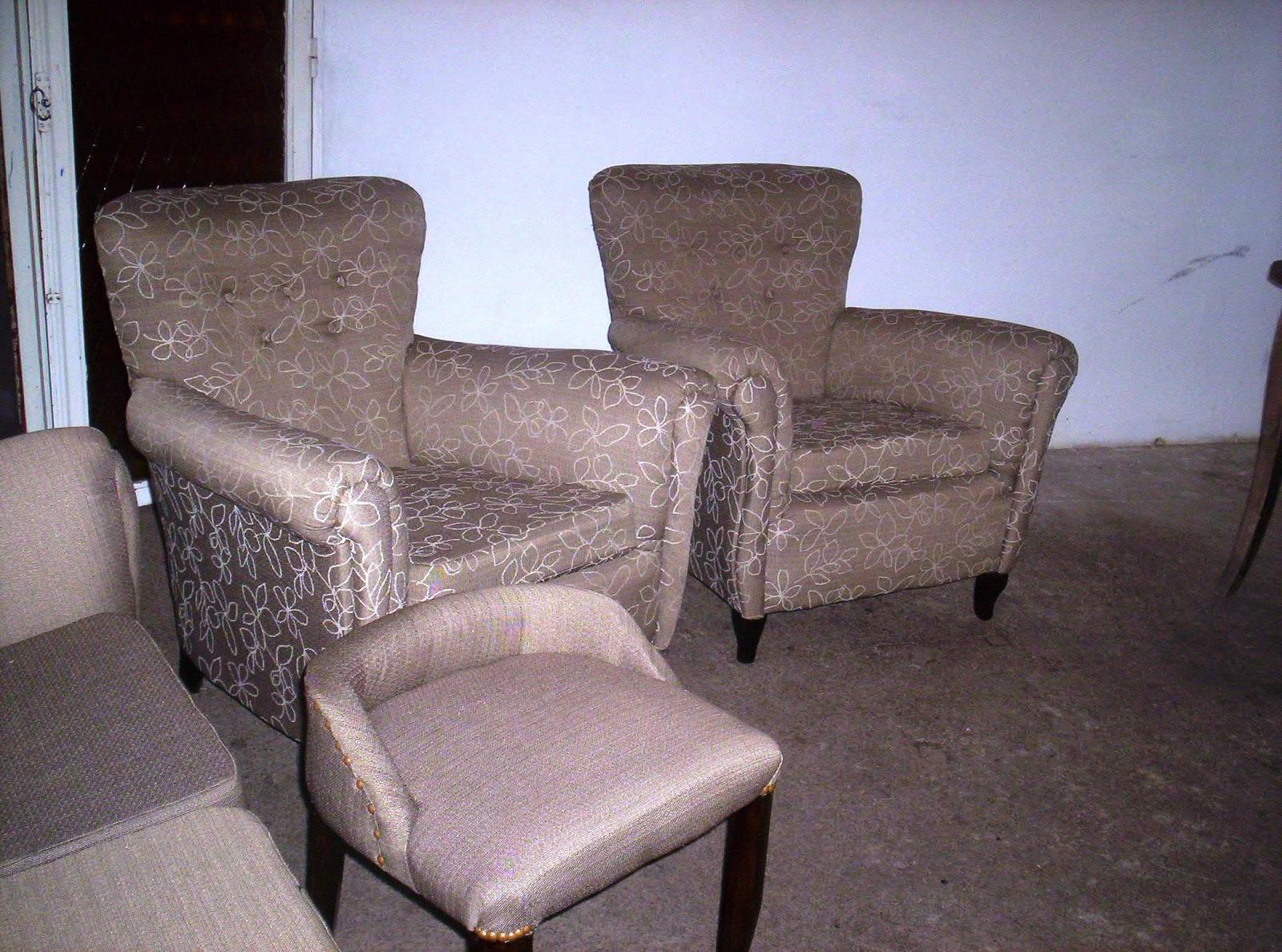 Reciclado de sillas y sillones juego de living reciclado for Sillas para living