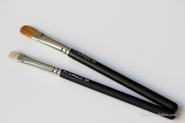 MAC 239 Eye Shader Brush and 252 Large Shader Brush