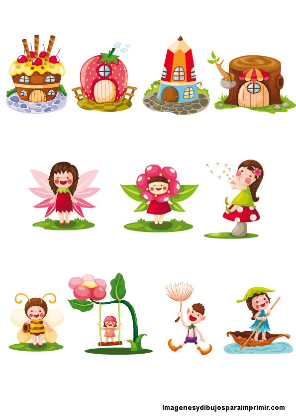 Hadas preciosas para imprimir infantiles