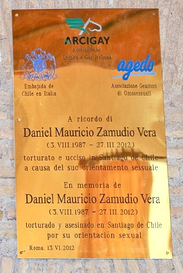 in Rome for Youth Martyr Daniel Zamudio. In late March, Chilean gay youth ...