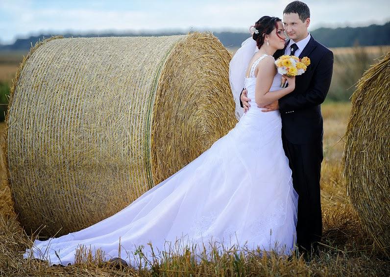 romantiškos nuotraukos iš vestuvių fotosesijos rugių lauke