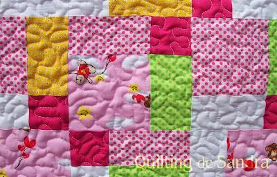 Quilt disappearing 9 patch -parche de 9 que desaparece (detalle)