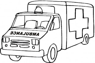 car ambulance coloring pages - Ambulance Coloring Pages Print