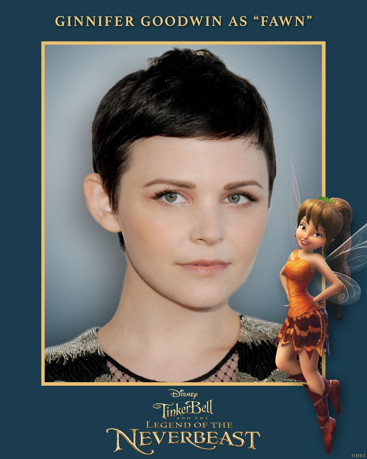 "Ginnifer Goodwin To Voice Fairy 'Fawn' In New ""TINKER BELL AND THE LEGEND OF THE NEVERBEAST"" Adventure +Clip"