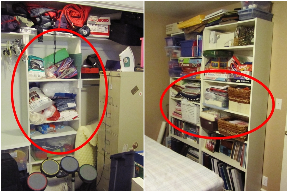 Organized room before and after viewing gallery