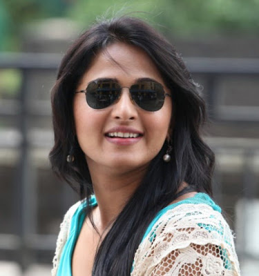 Anushka Shetty with her Stylish Branded Eyewear Glasses with open hair