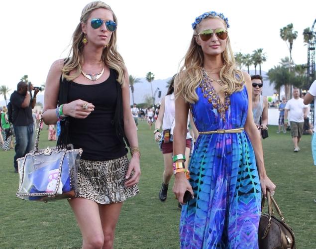 Hilton sisters at Coachella festival