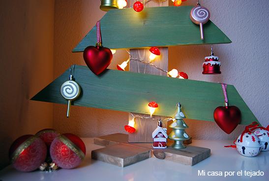 Diy rbol de navidad hecho con madera de palet mi casa - Arbol navidad leroy ...
